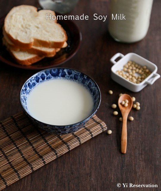{Recipe} Homemade Soy Milk Recipe 豆漿